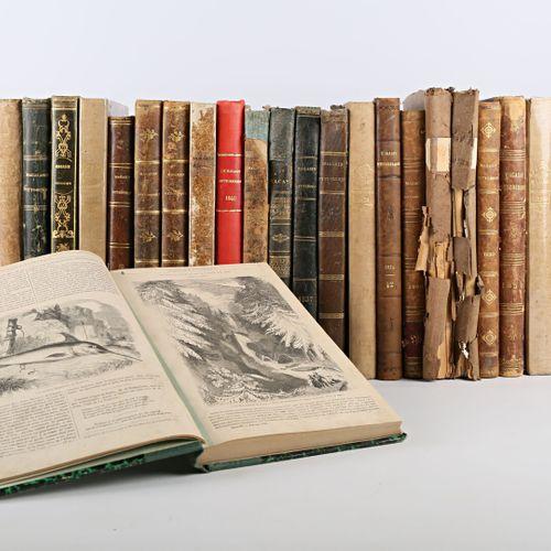 [MAGASIN PITTORESQUE]  Lot de vingt trois ouvrages brochés ou reliés années 1834…