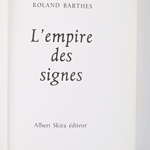 BARTHES Roland L'empire des signes Genève Albert Skira Collection les sentiers d…
