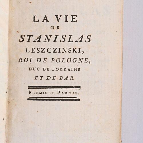(AUBERT A.) M*** La vie de Stanislas Leszczinski, surnommé le bienfaisant, Roi d…