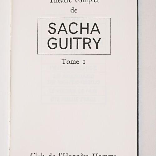 [LITTERATURE]  GUITRY Sacha Théâtre complet Paris, Club de l'honnête homme, 1973…