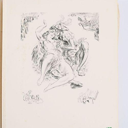 [POEMES]  COLLECTIF Poêmes d'amour Reims Éditions Hébé 1949 un volume in 4° broc…