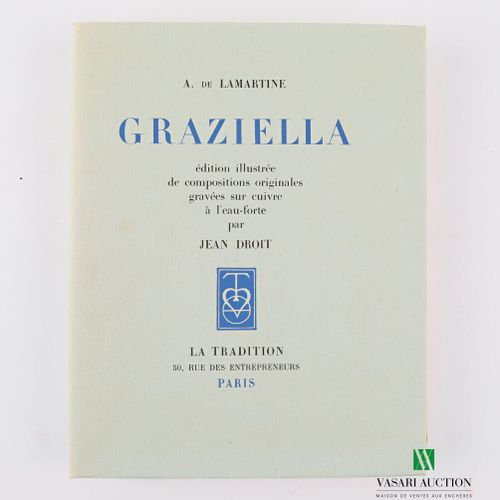 LAMARTINE A. De Graziella Paris la Tradition 1942 un volume in 8° couverture rem…