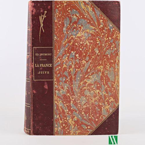 DRUMONT Edouard La France juive Blériot, sd 1 vol. In 4° reliure demi basane à c…