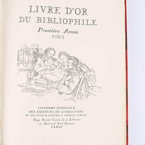COLLECTIF Livre d'or du Bibliophile, première année 1925 Paris Chambre syndicale…