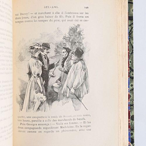 [GUY DE MAUPASSANT]  Lot de quinze volumes comprenant :   Les soeurs Rondoli Par…