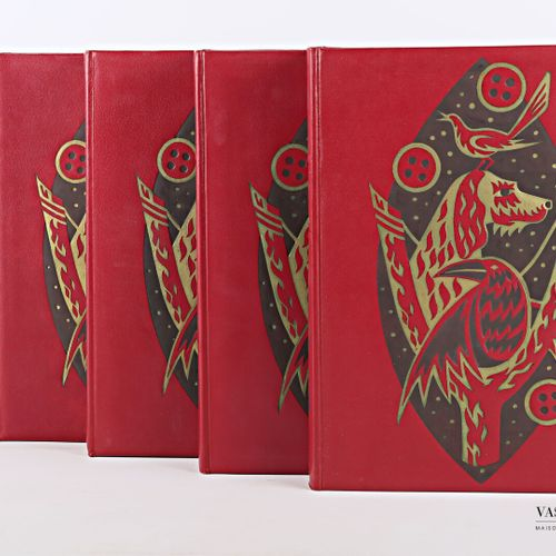PERGAUD Louis, Oeuvres complètes, Éditions Martinsart, 1965, cinq volumes in 4, …