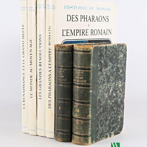 [HISTOIRE]  Lot comprenant six volumes :   V.DURUY Histoire de France Tome 1 et …