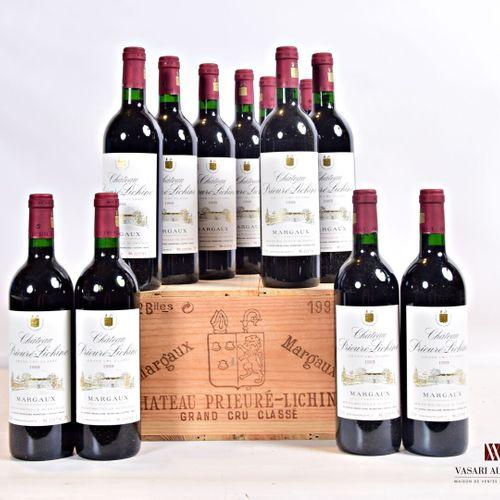 12 bouteillesChâteau PRIEURÉ LICHINEMargaux GCC1995  Présentation et niveau,…