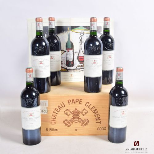 6 bouteillesChâteau PAPE CLÉMENTGraves GCC2000  Présentation et niveau, impe…