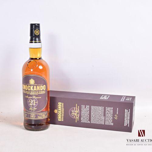 1 bouteilleSingle Malt Scotch Whisky KNOCKANDO Master Reserve 21 ans d'âge.  …