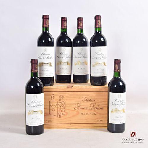 6 bouteillesChâteau PRIEURÉ LICHINEMargaux GCC2000  Et. Excellentes. N : 4 b…