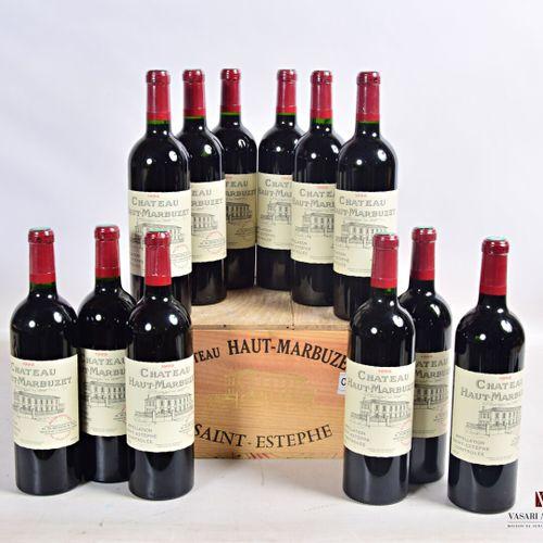 12 bouteillesChâteau HAUT MARBUZETSt Estèphe1999  Présentation et niveau, im…