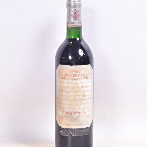 1 bouteilleChâteau LA FLEUR DE GAYPomerol1985  Et. Un peu fanée, tachée et u…