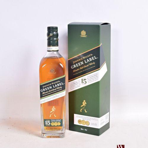 1 bouteilleBlended Malt Scotch Whisky JOHNNIE WALKER Green Label  15 ans d'â…