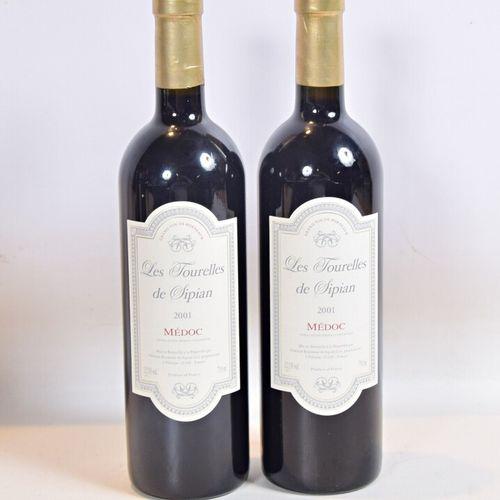 2 bouteillesLes TOURELLES de SIPIANMédoc2001  Présentation et niveau, impecc…