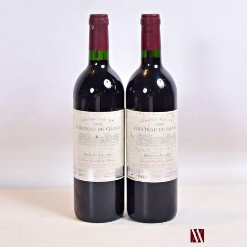 2 bouteillesChâteau du GLANASt Julien 1999  Et. Tachées. N : 1 mi goulot, 1 …