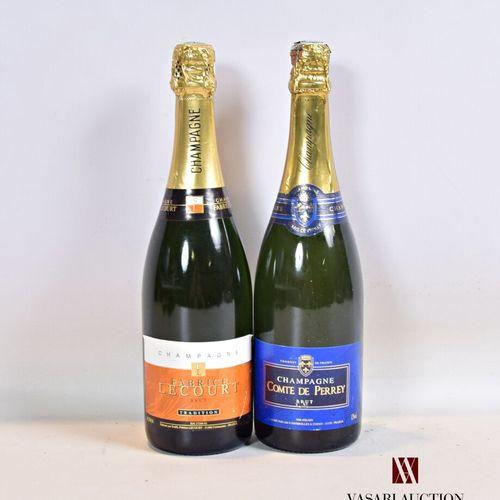 Lot de 2 bouteilles de Champagne comprenant :  1 bouteilleChampagne FABRICE L…