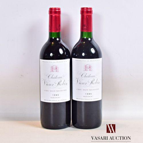 2 bouteillesChâteau VIEUX ROBIN Médoc CB1986  Présentation et niveau, impecc…