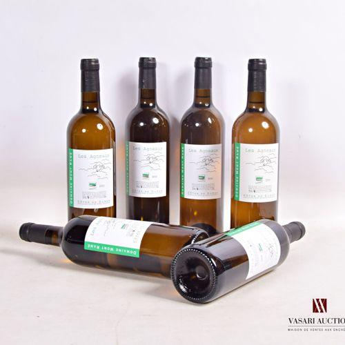 """6 bouteillesDomaine MONT RAMÉ blanc """"Les Agneaux""""Côtes de Duras2010  Présent…"""