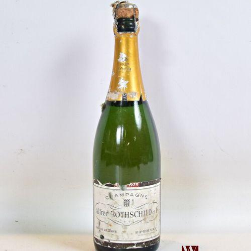 1 bouteilleChampagne ALFRED ROTHSCHILD Brut Grande Réserve1979  Et. Tachée, …