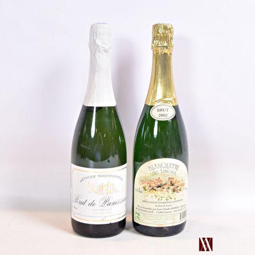 Lot de 2 bouteilles comprenant :  1 bouteilleBLANQUETTE DE LIMOUX Brut mise J…