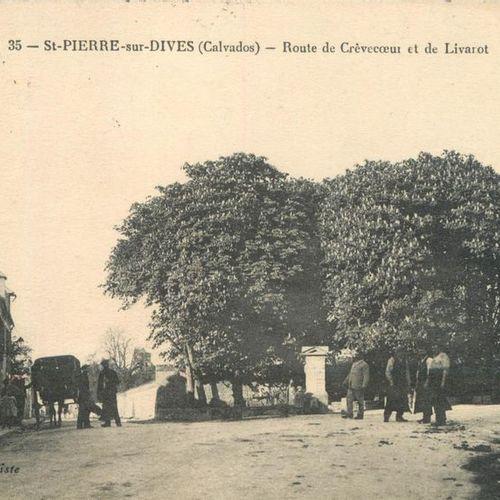 """62 CARTES POSTALES CALVADOS : Saint Pierre sur Dives. Dont"""" Pensionnat de Mlle R…"""