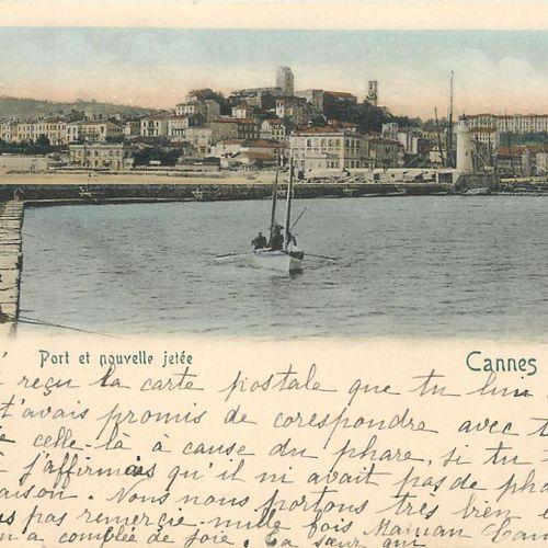 155 ALPES MARITIMES POSTCARDS: Cities (Cannes 112cp), qqs villages, qqs animatio…