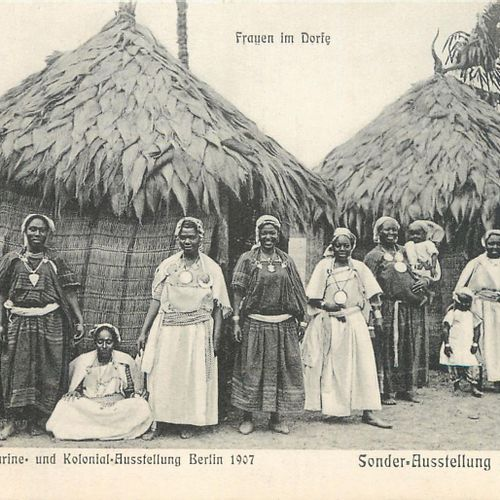 65 BLACK AFRICA POST CARDS: Various Countries. Cities, qqs villages, qqs animati…