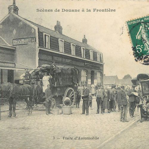"""13 BORDER POST CARDS: Small Selection. """"Bussang A la Frontière Col d'Oderen, 2cp…"""