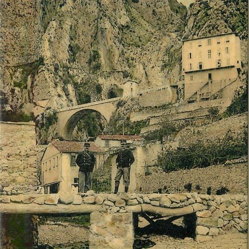 "13 BORDER POST CARDS: Small Selection. ""Bussang A la Frontière Col d'Oderen, 2cp…"