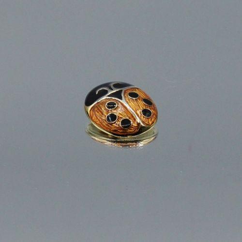 Sonia RYKIEL Made in France  Deux pin's en métal argenté représentant des coccin…