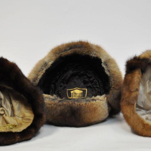 Lot de chapeaux de fourrure (vison et ragondin)    Bon état    Le retrait des lo…