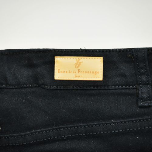INES DE LA FRESSANGE  Pantalon en coton noir taille 42    Le retrait des lots se…