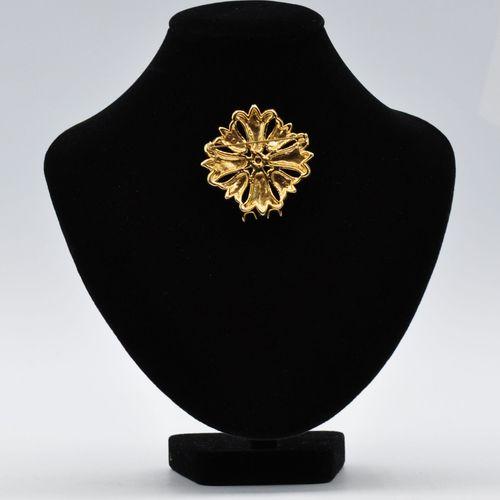 Lot de 3 broches en argent et métal doré comprenant :   Une broche gerbe en méta…
