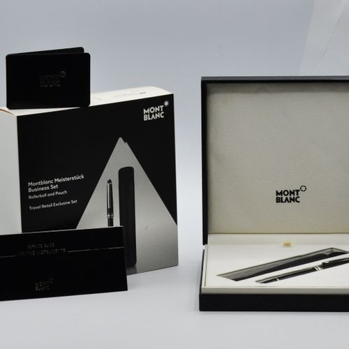 MONTBLANC.  Meisterstück Business Set, Rollerball and Pouch.  Travel Retail Excl…