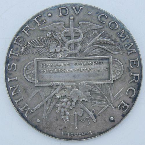 Médaille Argent.  République Française, Ministère du Commerce, Commission Perman…