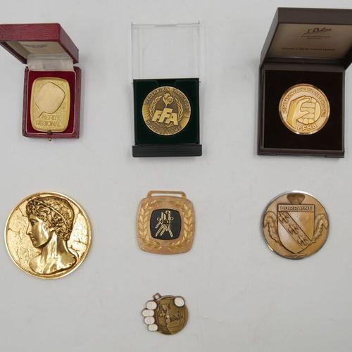 SPORTS (Divers). Ensemble de 7 Médailles. Divers métal.  Fédération Française d'…
