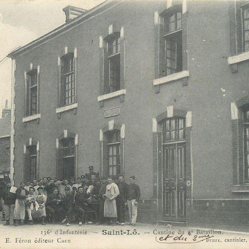 17 CARTES POSTALES MILITARIA : Sélection Saint Lô Caserne Bellevue 136e Rt d'Inf…