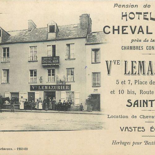 """10 CARTES POSTALES CAFES HOTELS : Saint Lô. """" Pierre Thomas 8 rue Henri Amiard C…"""