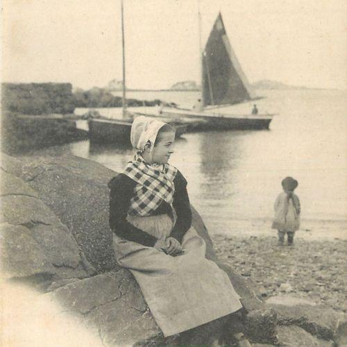 """83 CARTES POSTALES SCENES & TYPES : Finistère. Dont"""" Enfants de Saint Herbot, Je…"""