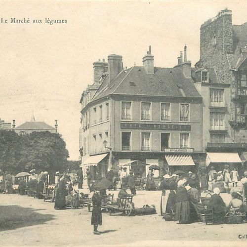 """15 CARTES POSTALES LES MARCHES : Saint Lô. """"4cp Le Marché Place des Alluvions (v…"""