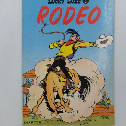 [DUPUIS] Lucky Luke Ensemble de 8 Bandes dessinées.  2. Rodéo, 1970, Couverture …