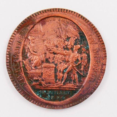 Médaille en Bronze.  Avers Vivre Libre ou Mourir, Pacte Fédératif 14 Juillet 179…