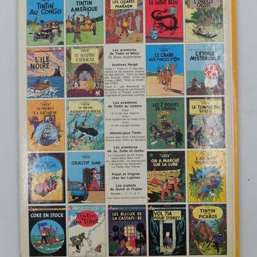[CASTERMAN] Tintin Ensemble de 4 Bandes dessinées.  7. L'île noire, 1966.  9. Le…