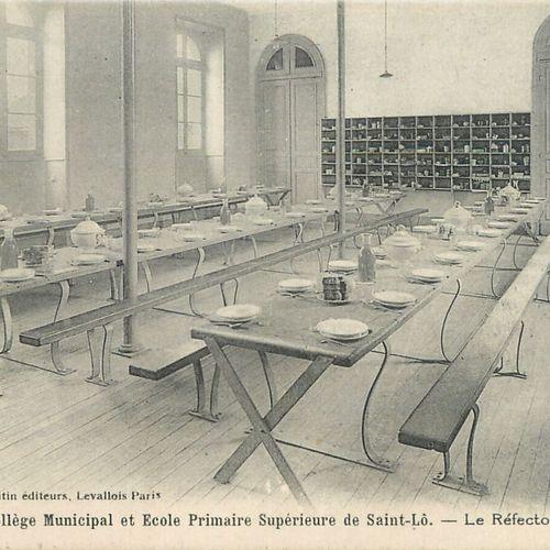 """29 CARTES POSTALES ENSEIGNEMENT : Saint Lô. """"2cp Cinquantenaire de l'Ecole Laïqu…"""