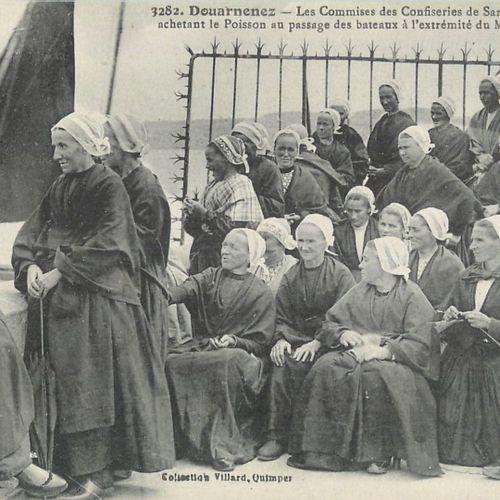 """6 CARTES POSTALES METIERS : Finistère Les Femmes. """"Quimper La vieille marchande …"""