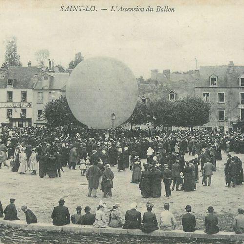 """1 CARTE POSTALE BALLON : Sélection Manche. """"Saint Lô L'Ascension du Ballon."""" Tim…"""