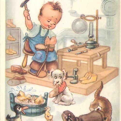 74 CARTES POSTALES & PHOTOS LES ENFANTS : Illustrations, Illustrateurs & Réels. …