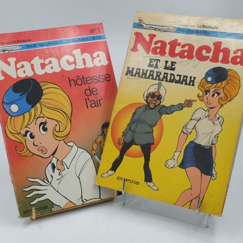 [DUPUIS] Natacha Ensemble de 2 Bandes dessinées.  1. Hôtesse de l'air, 1972, Off…