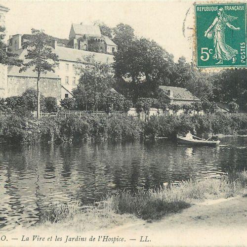 """144 CARTES POSTALES MANCHE : La Ville de Saint Lô. Dont"""" Vue de Valvire, Quai d'…"""